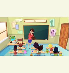 Angry nervous teacher cartoon concept vector