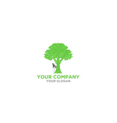 arborist tree service logo design vector image