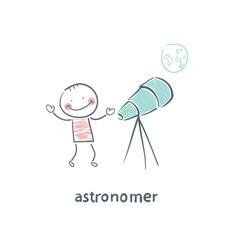 astronomer vector image