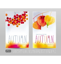 Autumn posters vector