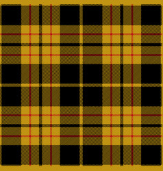 black and yellow tartan plaid seamless pattern vector image
