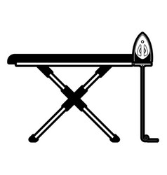 Black sections silhouette of ironing board and vector