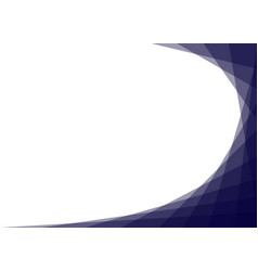 Blue curve corner isolated on white background vector