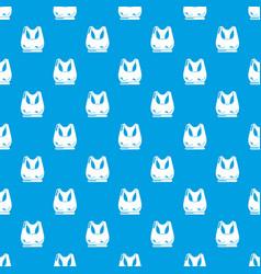 brassiere sport pattern seamless blue vector image
