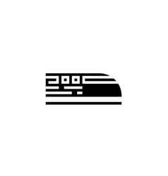 bullet train icon solid vehicle and vector image