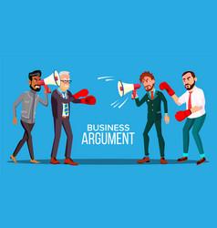 Business argument web banner cartoon vector