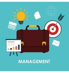 Business management graphic vector image