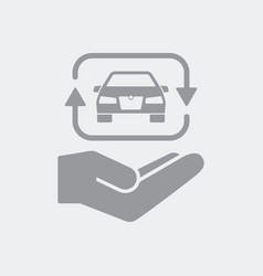 Car sharing service icon vector
