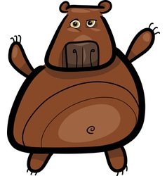 cartoon of grizzly bear vector image