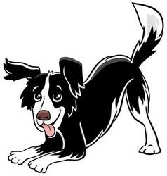 cartoon playful dog comic animal character vector image