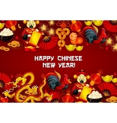 Chinese New Year and Spring Festival poster design vector