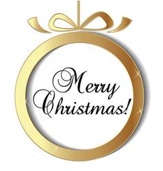 christmas ball ornament icon vector image