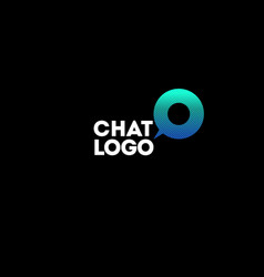 Communication or chat logo vector