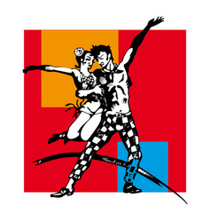 Couple dancing swing vector