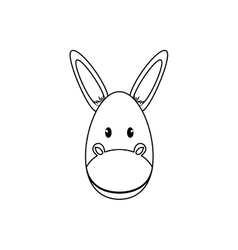 Donkey animal cartoon vector image