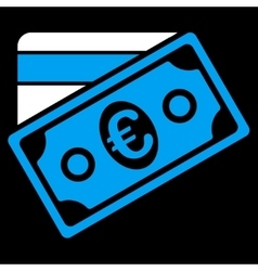 Euro Money Credit Card Icon vector image