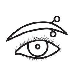 Eyebrow piercing iconoutline vector
