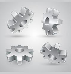 Gears set vector