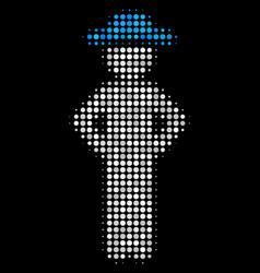 gentleman akimbo halftone icon vector image