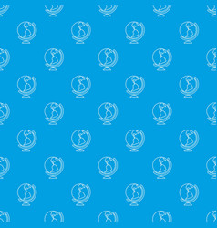 globe pattern seamless blue vector image