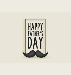 happy fathers day mustache hipster background vector image