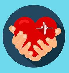 heart in the hands 2 vector image vector image