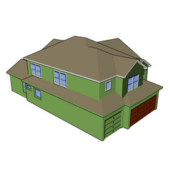 House as a shelter or color vector
