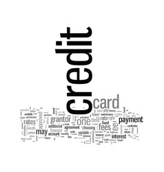 How to choose the right credit card vector