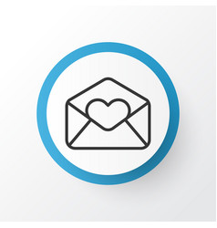 Love letter icon symbol premium quality isolated vector