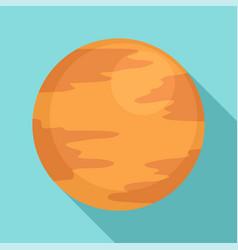 Mercury planet icon flat style vector