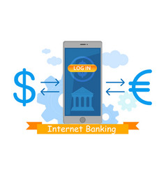 mobile banking application vector image