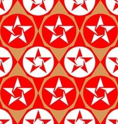 Modern seamless diamond pattern with stars vector image