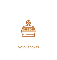 Mosque domes concept 2 colored icon simple line vector