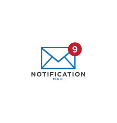 notification mail graphic design template vector image