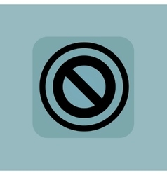 Pale blue NO sign vector