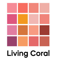 palette pink cream tones coral color template vector image