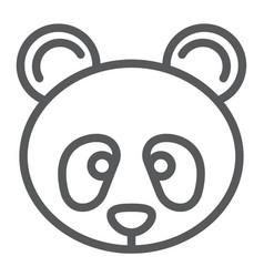 panda line icon zoo and animal fauna sign vector image