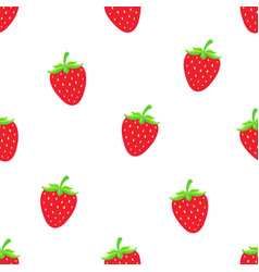 pattern with sweet red strawberry vector image