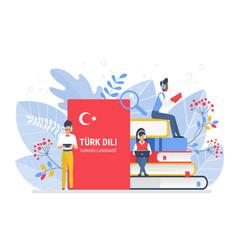 people learning turkish language vector image