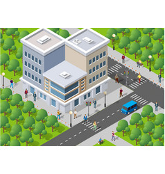 People walking around the city vector