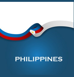 Philippines sport style flag ribbon classic style vector