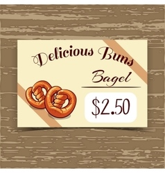 Price Tag Design Bagels vector