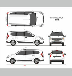 renault lodgy 2012 vector image