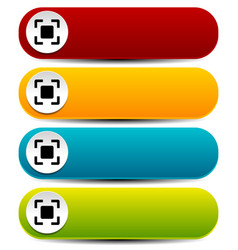 rounded horizontal buttons in several colors with vector image