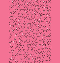 seamless background with pink hearts graphics vector image