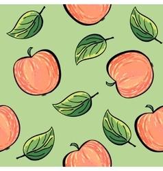 Seamless hand drawn apple pattern vector