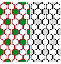 Seamless honeycomb pattern geometric background vector