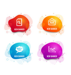 Search files web mail and quick tips icons vector