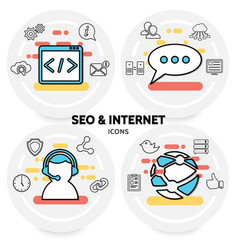 seo and internet concept vector image