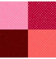Set Red Pink Star Polka dot vector image